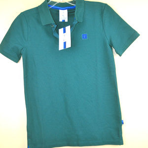 Nike Youth Boys Roger Federer Green Polo T-Shirt